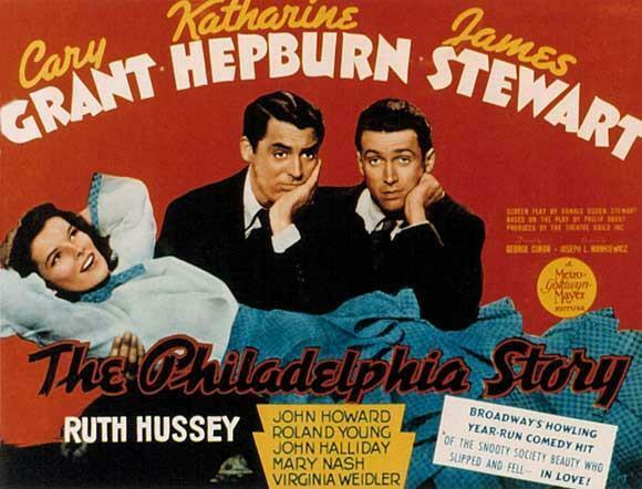1940 movie poster for The Philadelphia Story.