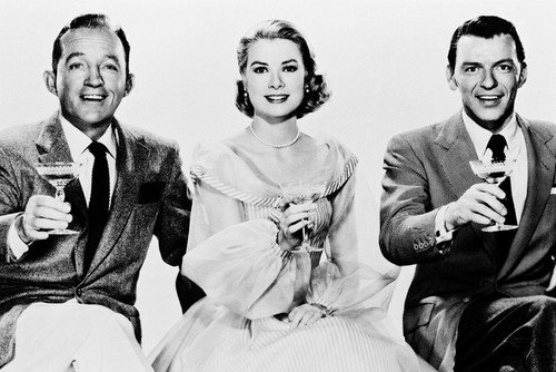 Bing Crosby, Grace Kelly and Frank Sinatra star in High Society.
