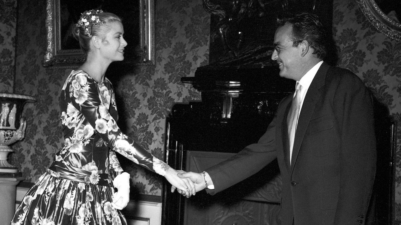 Kelly and Prince Rainier's first meeting in 1955.