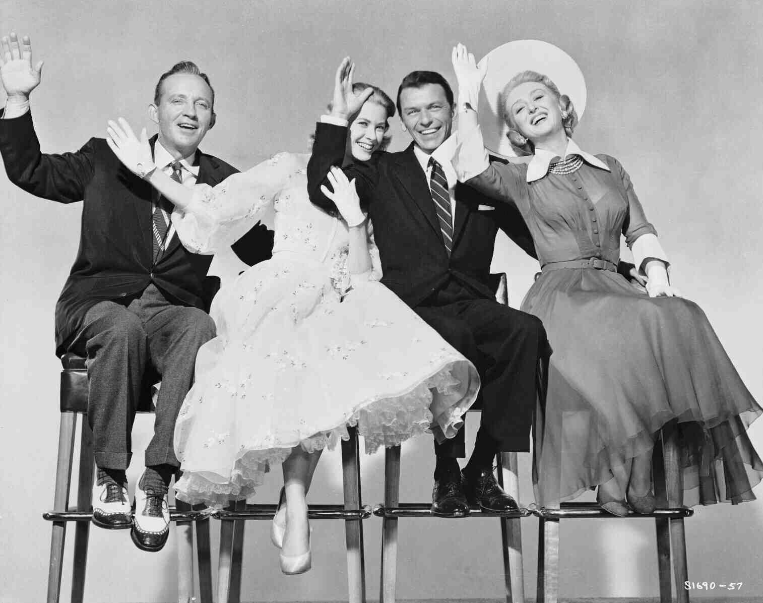 Crosby, Kelly, Sinatra and Holm in a publicity shot for High Society.