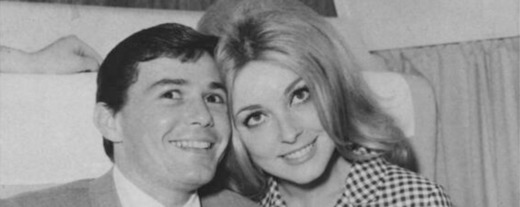 Jay Sebring and Sharon Tate.