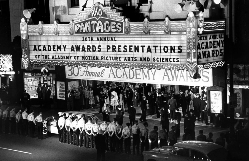 The 1958 Academy Awards held at Pantages Theater in Hollywood, California.