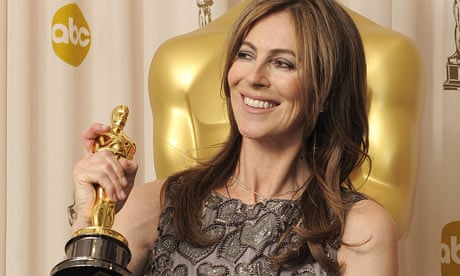 Kathryn Bigelow with her Academy Award for Best Director in 2010.